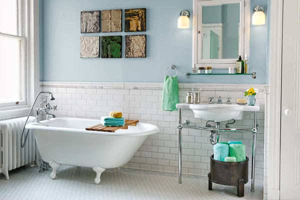 After: Rearranged Fixtures | Opening Up a Bath for Better Function ...