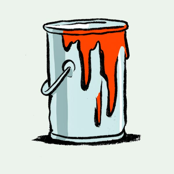 illustration of paint can
