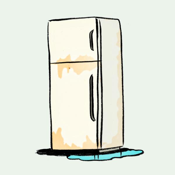 illustration of refrigerator