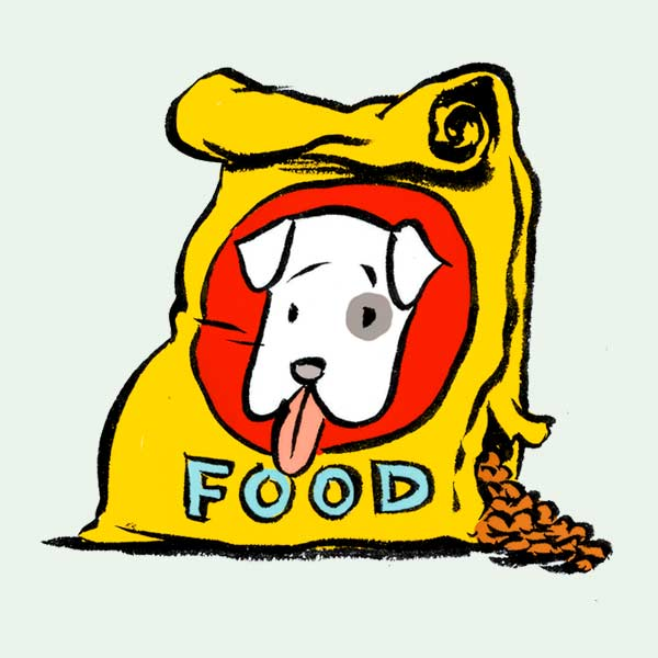 illustration of pet food