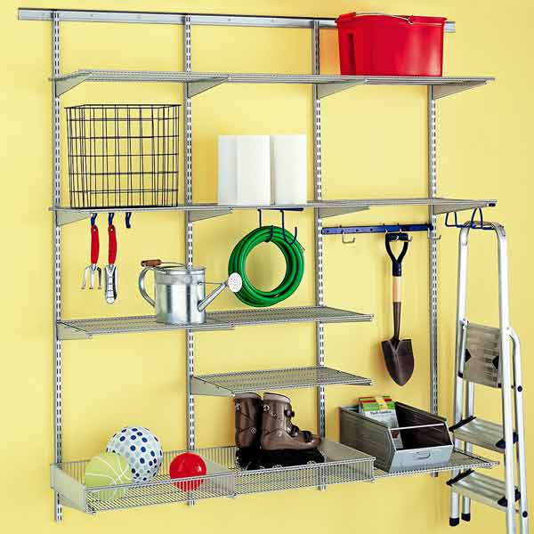 read before you organize your garage vertical storage track based system