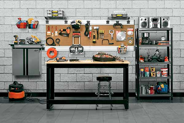 read before you organize your garage workbench