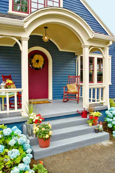 curb appeal boost on budget cottage painted