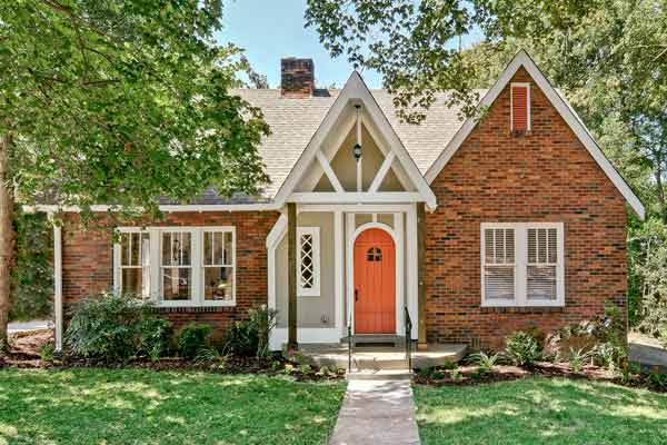curb appeal boost on budget tudor style home