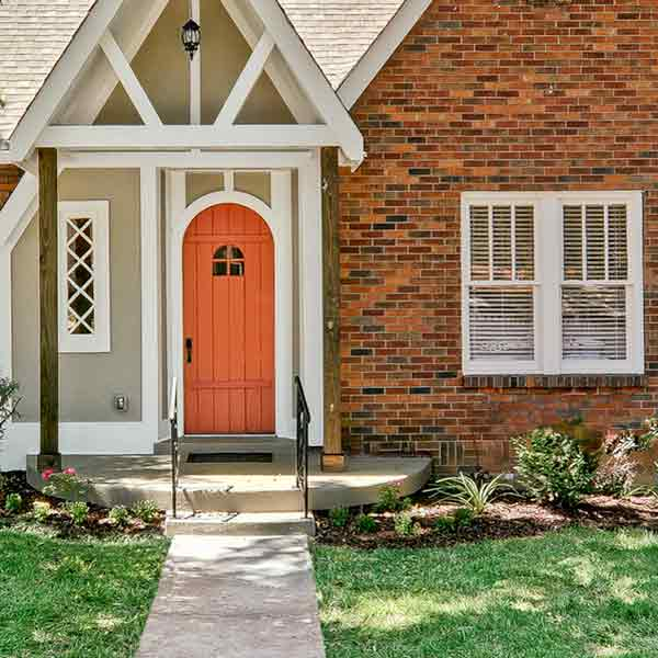 Brighten a Dark Facade Windows and Door Curb Appeal