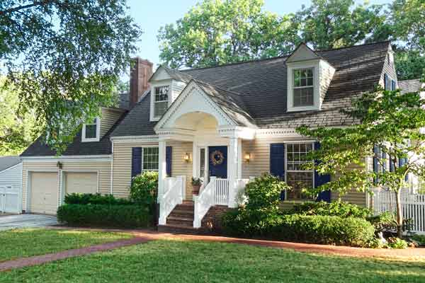 curb appeal boost on budget cape cod style home entry with gabled