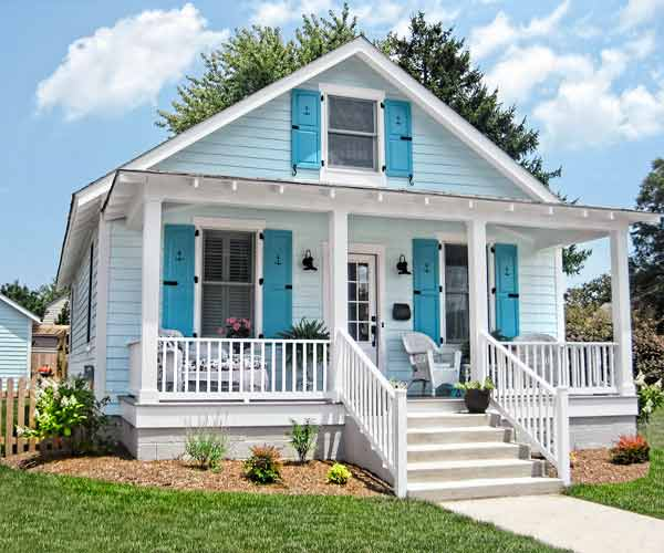 curb appeal boost on budget cottage