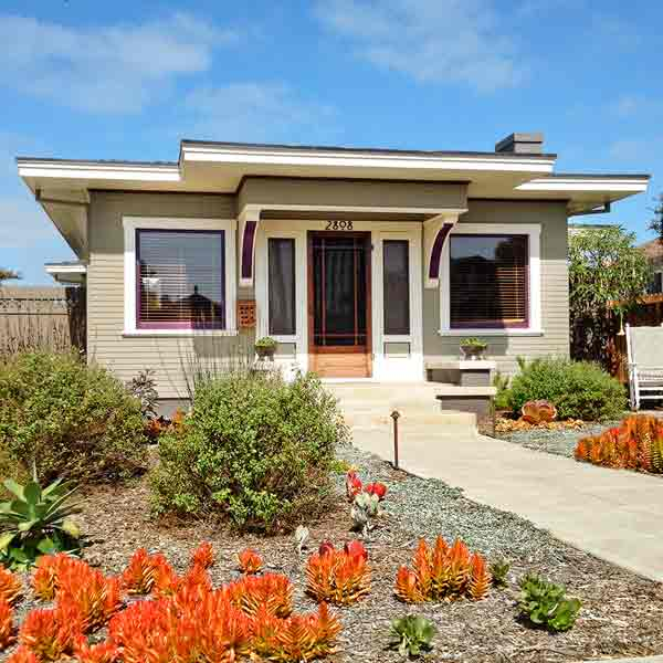 curb appeal boost on budget prairie-style bungalow concrete stoop porch