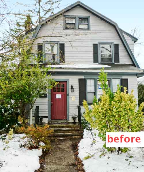 curb appeal boost on budget dutch colonial style home