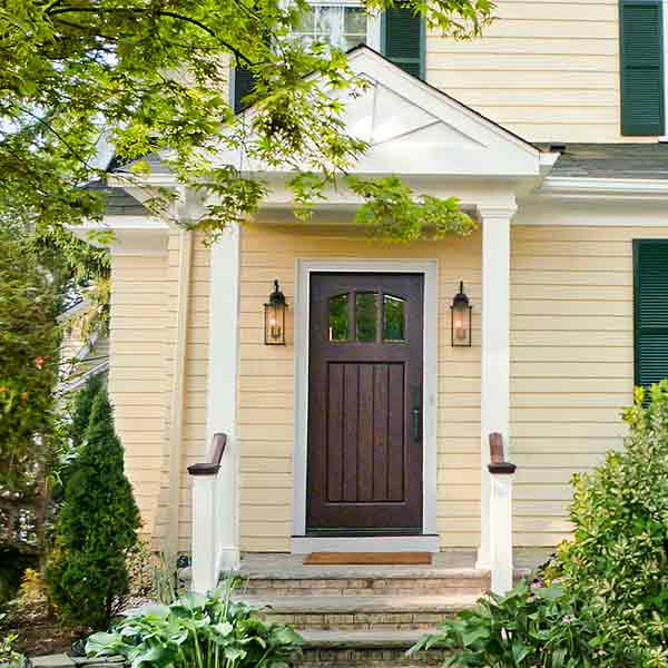 curb appeal boost on budget dutch colonial style home with cedar clapboards siding repainted