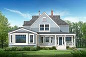 a Photoshop illustration of a house with new paint colors applied