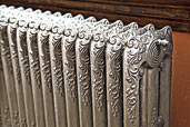how paint silver steam radiator