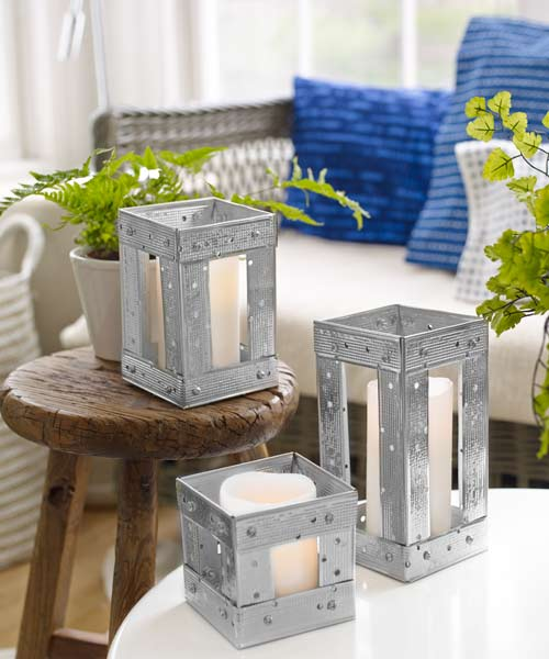 candleholders made from drywall corner bead, 10 uses