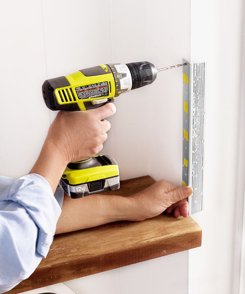 using drywall corner bead as a guide for drilling holes in wall, 10 uses
