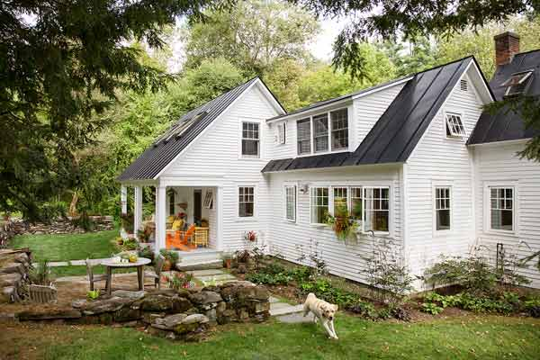 farmhouse whole house remodel exterior backyard