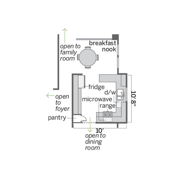 kitchen before redo floor plan