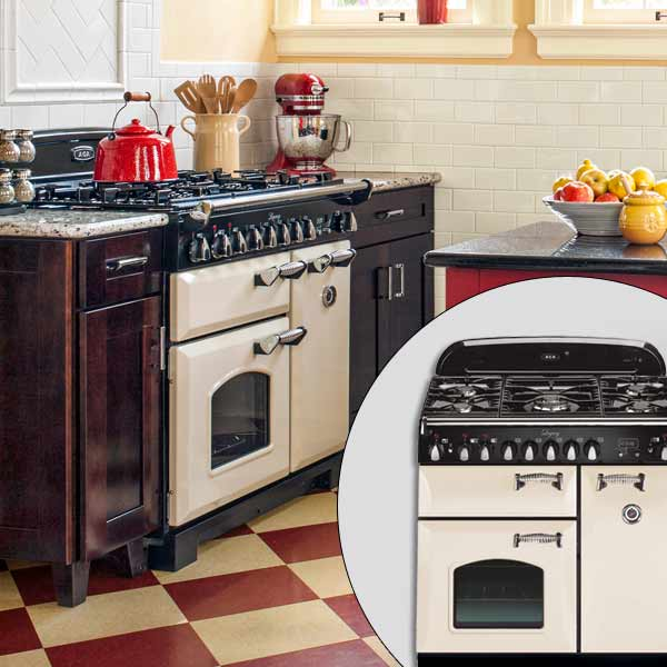 get this look british cottage style kitchen with vintage look cast iron stove