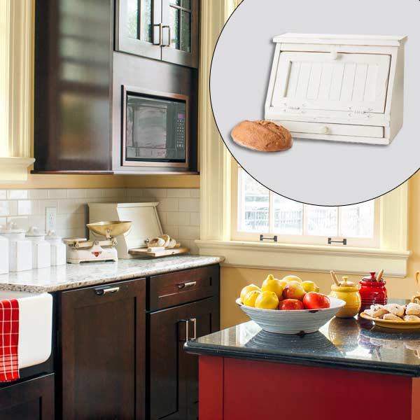 get this look british cottage style kitchen with white beadboard breadbox