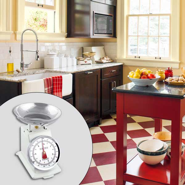 get this look british cottage style kitchen with spring dial scale