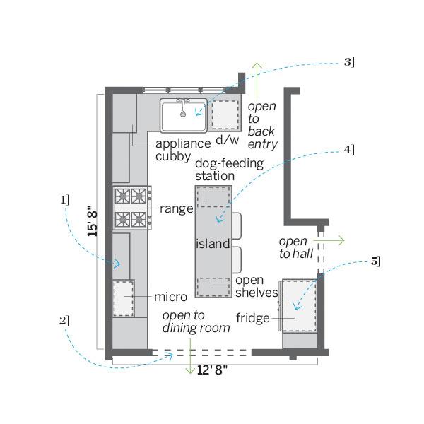 after floor plan of kitchen remodel