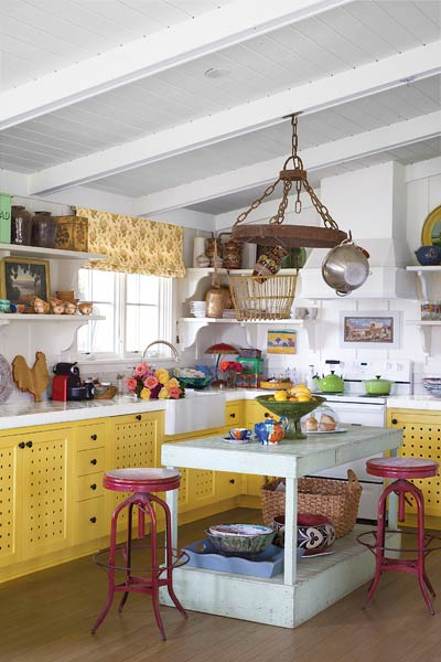a quirky cottage kitchen