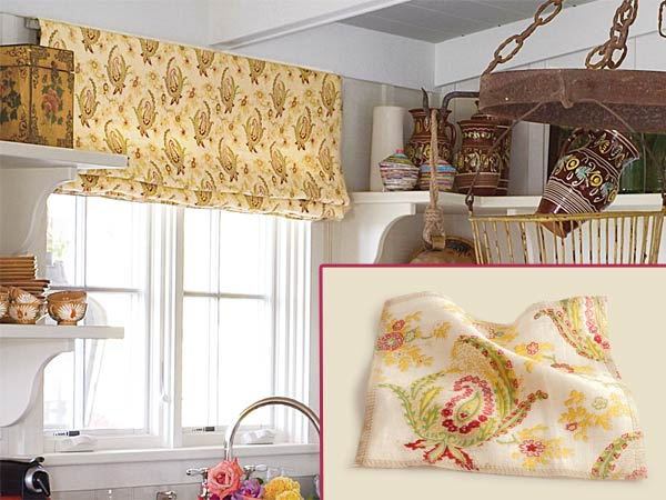 Fabric Valance Create A Quirky Cottage Kitchen This