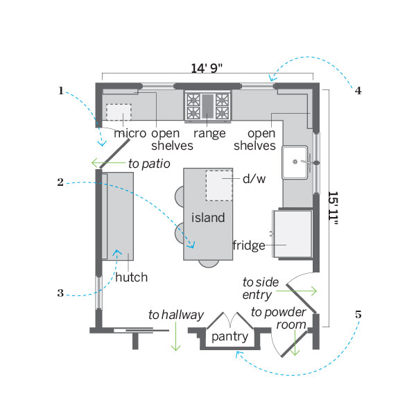 floor plan after kitchen remodel
