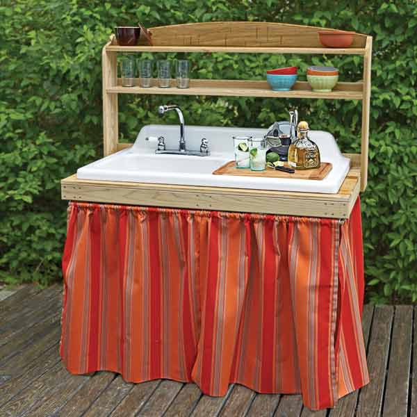 salvage project step by step outdoor bar salvaged kitchen sink