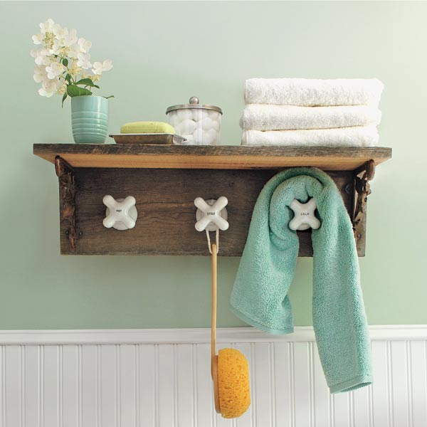 salvage project step by step towel rack with vintage faucet tap hook