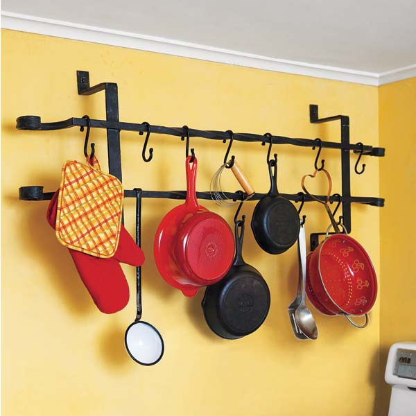 salvage project step by step pot rack iron window guard