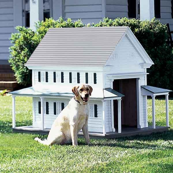 greek revival doghouse