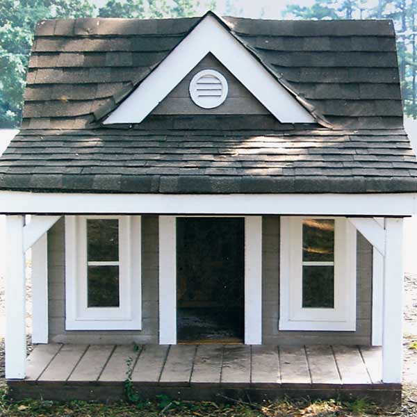 doghouse with large, cool front porch