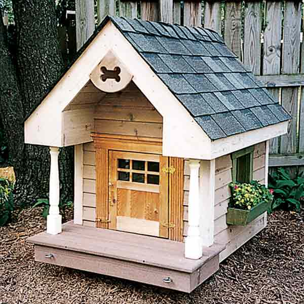 colonial style doghouse