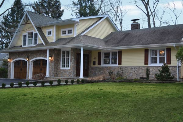 Cozy Outdoor Living Space for a Custom Colonial: After for the this old house reader remodel curb appeal contest 2013