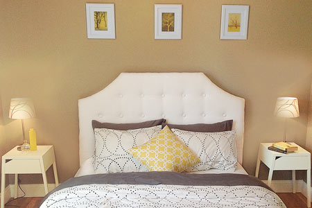 headboard made out of dropcloth, reader remodel contest 2013