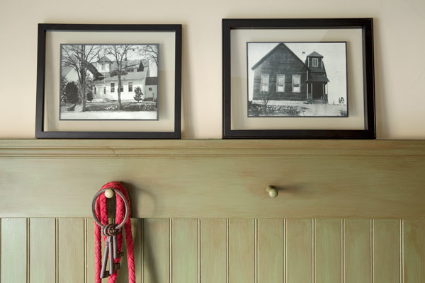 reader remodel contest winner 2013 whole house after foyer with framed antique photos of house