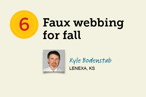 Faux Webbing for Fall   for 27 Reader Tips That Save Time and Money