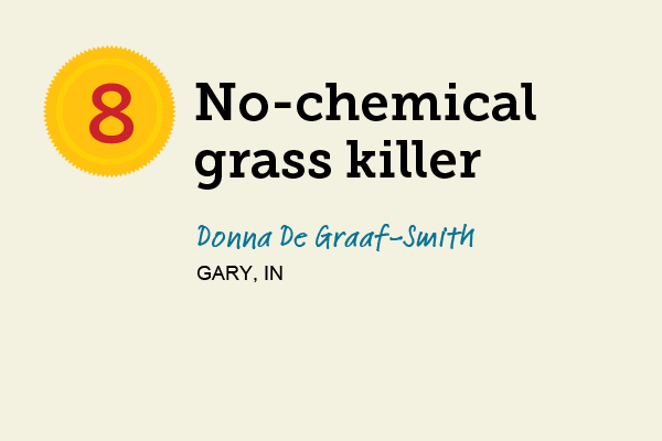 No-Chemical Grass Killer for 27 Reader Tips That Save Time and Money