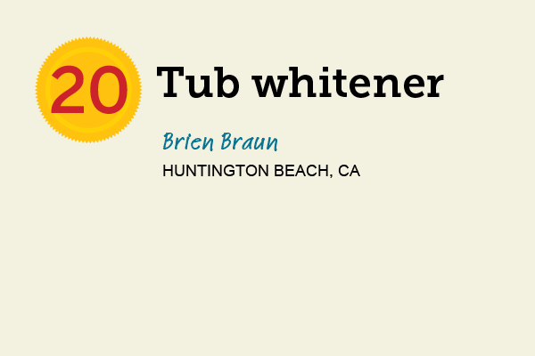 Tub Whitener for 27 Reader Tips That Save Time and Money