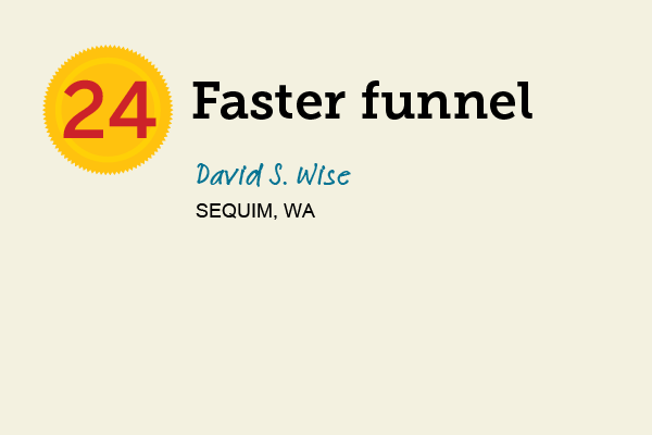 Faster Funnel for 27 Reader Tips That Save Time and Money