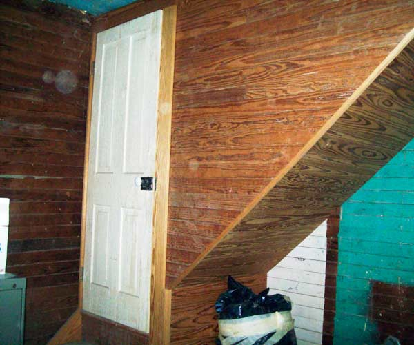 stairway to unfinished attic save this old house garland texas oldest house 1870s frontier farmhouse
