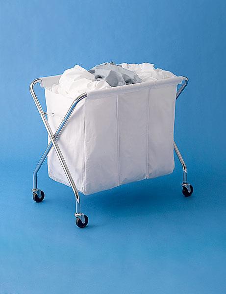 rolling, foldable laundry bin