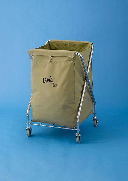 upright, wheeled laundry cart