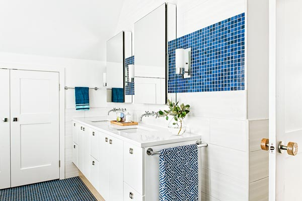 remodeled washroom of the renovated this old house tv cambridge project