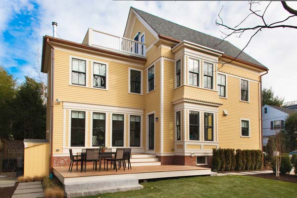 remodeled exterior of the renovated this old house tv cambridge project