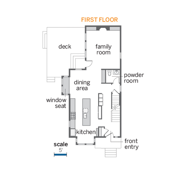 first floor floorplan of the renovated this old house tv cambridge project