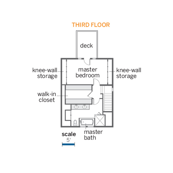 third floor floorplan of the renovated this old house tv cambridge project