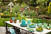 garden planning romantic gardens with dining table set