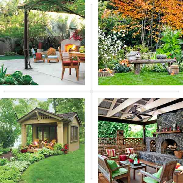four afters of yard remodels