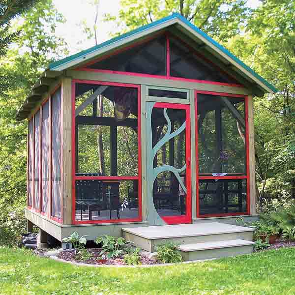 Screen in garden room steal ideas from our best yard and Shed with screened porch